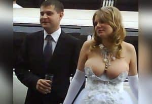 escote excesivo para una boda
