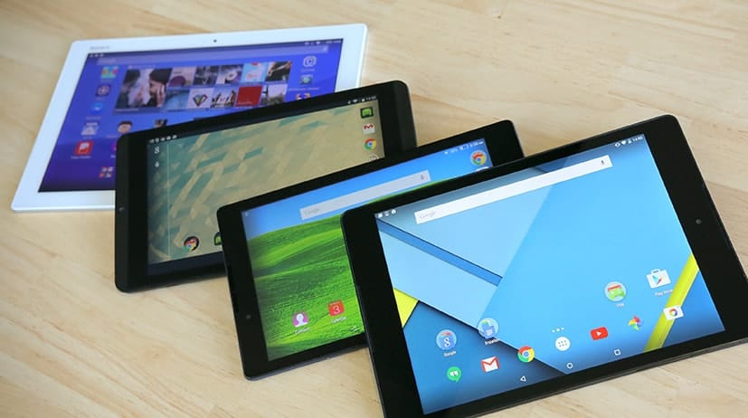 inicio de las tablets