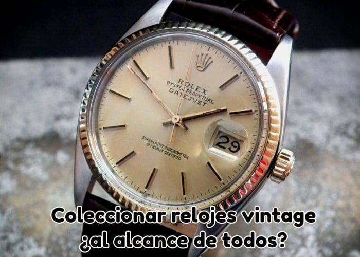 Coleccionar relojes vintage al alcance de todos